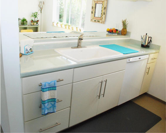 Retro Kitchen Remodel with European Cabinetry